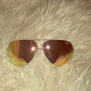 NWT- Quay -Muse Sunglasses - Gold & Pink